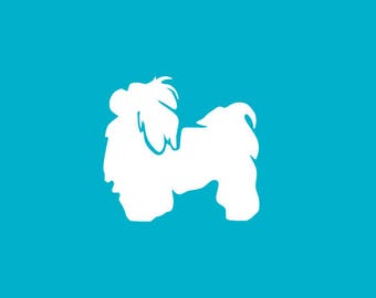 Shih Tzu Car Decal