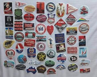 55 Retro travel stickers