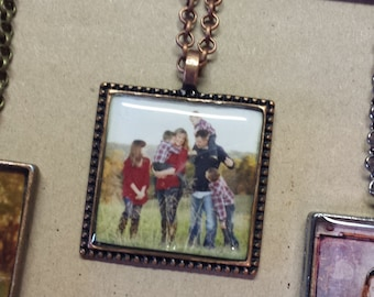 Custom Photo Necklace ~ Photo Pendant With Chain