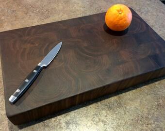 Black Walnut - Brick Layer Pattern - End Grain Butcher Block Cutting Board