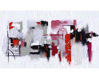 red, white and black abstract