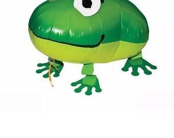Walking floating frog Helium Balloon