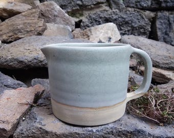 Green celadon pitcher