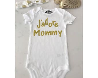 J'adore mommy/love/baby/onsie/girls/tshirt/white/black