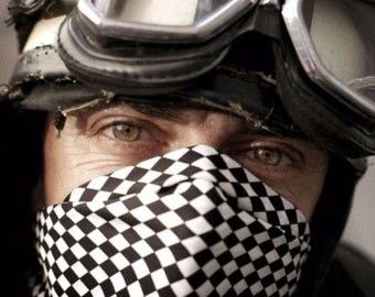 """Chess Checkered Cafe Racer Scarf """"Ace Cafe"""" - Classic Design - New"""