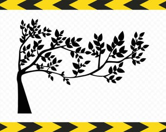 Tree SVG Clipart DIY decor Wall decal Scrapbook Dxf Pdf Png Cut files for Cricut Silhouette