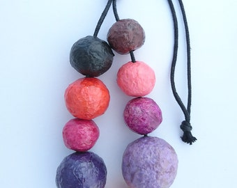 You're getting warm... colour palette necklace, Recycled paper beads