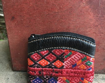 Hand woven coin pouch