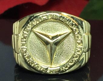 Rolex etsy for 14k gold mercedes benz pendant