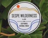 "Sespe Wilderness Vinyl Sticker - 3"""