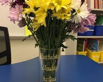 Teacher Appreciation Flower Vase