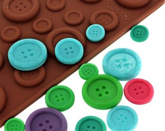 Button Shapes Silicone Mold