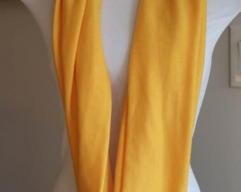 Gold Jersey Infinity Scarf, Circle Scarf, Women's scarf, Gifts for Her