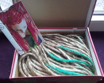 Double ended synthetic dreads ombre
