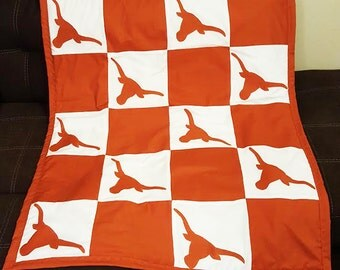 Texas Longhorns Baby Blanket
