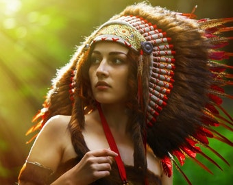 Indian headdress - Sunset Flame