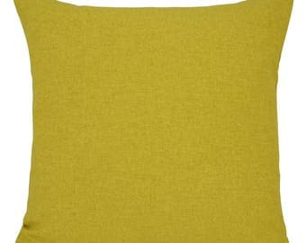 Brushed Shetland Lime Green Cushions with Fillers Various Sizes 28cm , 36cm, 43cm , 60cm