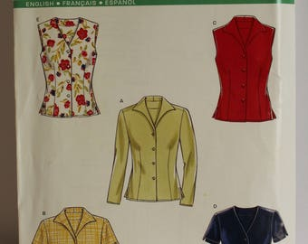 Simplicity New Look 6598 Blouse pattern, sizes 8-18