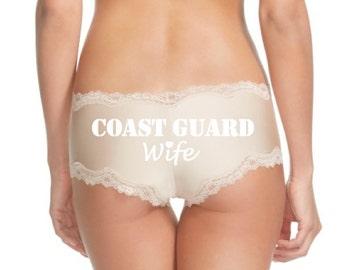 Coast Guard Wife, Girlfriend, Armed Forces, Bridal Shower, Personalized Panties, Wedding Panties, Custom Panties, Bride to Be, Cheeky