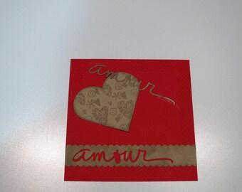 """Valentine's Day card """"Love kraft"""""""