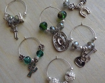 Wine glass charms, beaded charms, wine gifts,