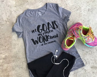 Small-Set Goals Say Prayers Work Hard a wearable quote by Al Carraway.