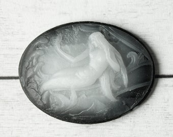 1 cameo made in Germany 30x40mm cabochon gem (L) fairy Mermaid nautical fantasy fairy tale women 30 * 40 C012