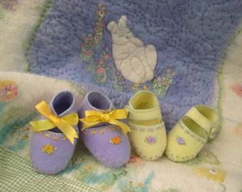 Downloadable PDF Pattern - Tootsie Toes baby slipper, Felt slippers