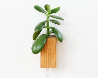 Cherry wooden magnet vase v2.0