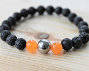CHAKRA #2 SEXUALITY bracelet, diffuser bracelet, unisex, for him, for her, aromatherapy, colour therapy, yoga jewelry, zen bracelet