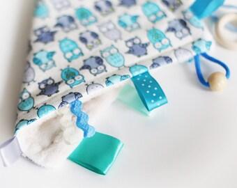 Taggie Blanket/Crinkle Toy/Crinkle Sound/Taggie Blanket/Teether/Teether/Sensory Baby Toy/Montessori/Montessori Baby Toys/Busy Blanket
