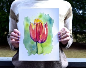 Spring Tulip - Watercolor Art Print