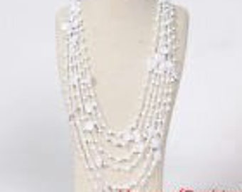 Bohemian Multilayer lace Beads necklace