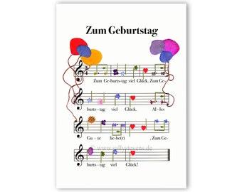 Birthday card birthday - pressed flower motif