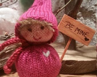 Valentine Gnome Doll