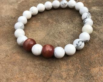 White Peace Bracelet