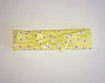 Yellow baby headband
