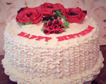 Organic Cake with Handmande Floral Decorations