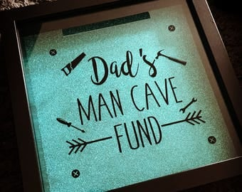 Dads Man cave fund, money box, money box fund frame, Father's Day gift, gift for him, dads man cave fund, dads fund, moneubbox