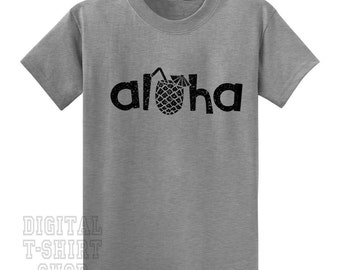 Aloha Pineapple Drink T-Shirt – Tropical Hawaiian T-Shirt