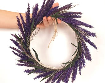 Lavender wreath for wedding rings - Ring pillow - Círculo de lavanda para anillos de boda