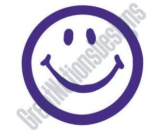 Smiley Face - SVG - HTV- Vinyl Cutting Graphic Art