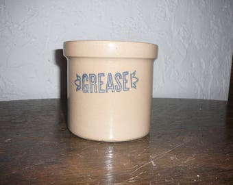 "Antique ""Grease"" crock"