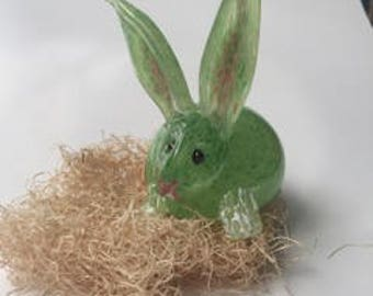 Glass Easter Bunny