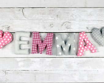 Your name in fabric letters name Garland + free