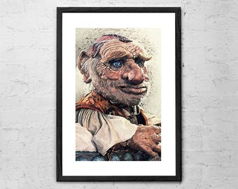 Hoggle - Labyrinth Movie - Illustration - The Labyrinth - Labyrinth Poster - Labyrinth Print - Goblin - Goblin King - Jim Henson - Dark Art