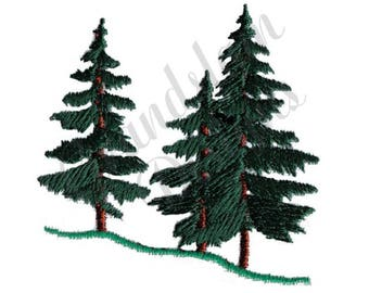 Evergreen Trees - Machine Embroidery Design