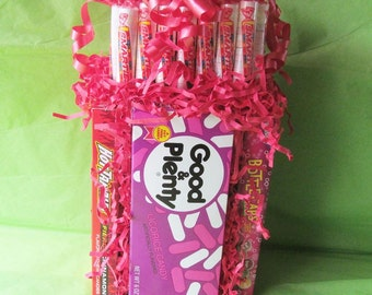 Sweet Bouquet - Movie Theater Candy Box, Candy Arrangement, Birthday Gift, Special Occasion Gift Holiday Gift