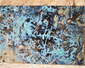 Gift mother, Photo art, wall art, Abstract Art, modern, Contemporary Art, gift, birthday, Original, blue,.