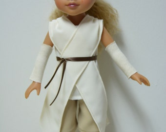 "Handmade Doll Clothes Star Wars Rey Costume fits 14"" Hearts for Hearts H4H G2G Dolls"